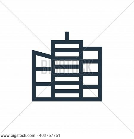 skyscraper icon isolated on white background. skyscraper icon thin line outline linear skyscraper sy