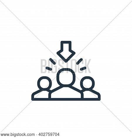 recruitment icon isolated on white background. recruitment icon thin line outline linear recruitment