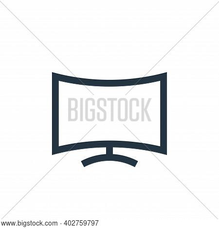 curve icon isolated on white background. curve icon thin line outline linear curve symbol for logo,