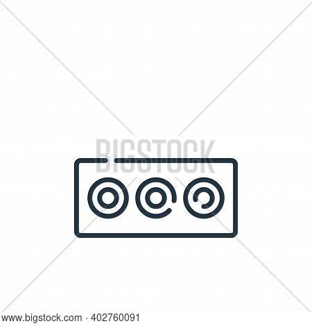 av cable icon isolated on white background. av cable icon thin line outline linear av cable symbol f