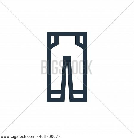 jeans icon isolated on white background. jeans icon thin line outline linear jeans symbol for logo,