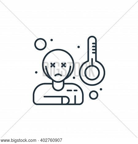 sick icon isolated on white background. sick icon thin line outline linear sick symbol for logo, web