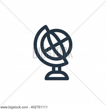 globe icon isolated on white background. globe icon thin line outline linear globe symbol for logo,