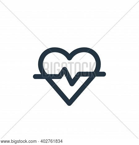 heart rate icon isolated on white background. heart rate icon thin line outline linear heart rate sy
