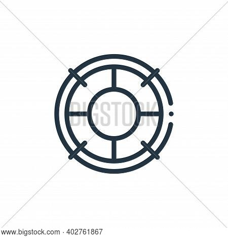 life saver icon isolated on white background. life saver icon thin line outline linear life saver sy