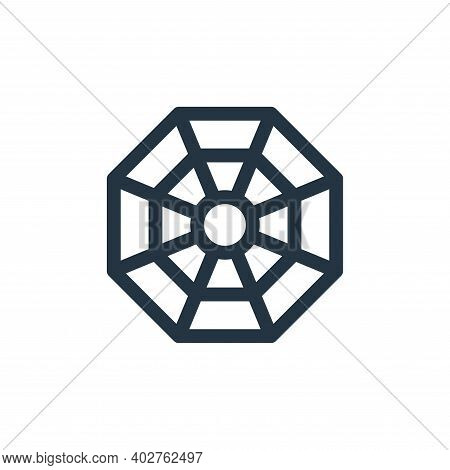 octagon icon isolated on white background. octagon icon thin line outline linear octagon symbol for