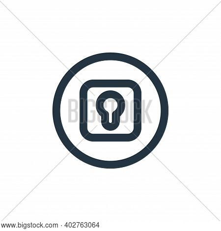 lock icon isolated on white background. lock icon thin line outline linear lock symbol for logo, web