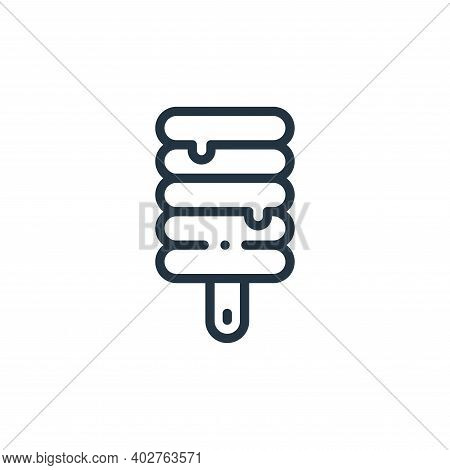 popsicle icon isolated on white background. popsicle icon thin line outline linear popsicle symbol f