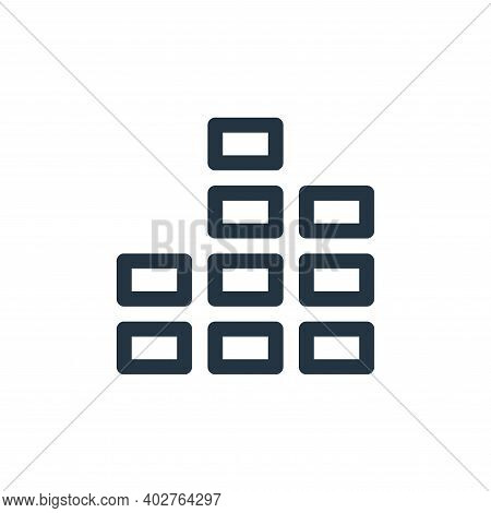 bar chart icon isolated on white background. bar chart icon thin line outline linear bar chart symbo