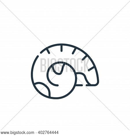shell icon isolated on white background. shell icon thin line outline linear shell symbol for logo,