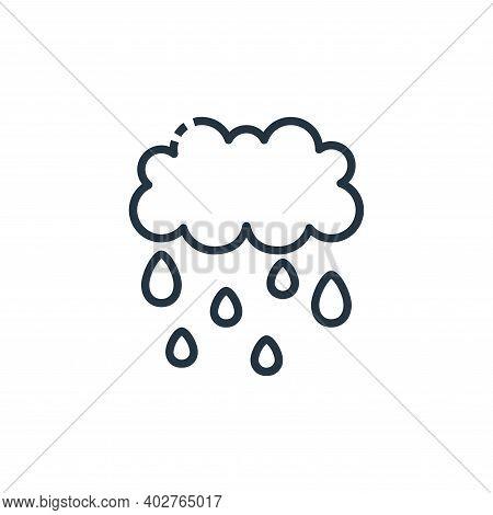 rainy icon isolated on white background. rainy icon thin line outline linear rainy symbol for logo,