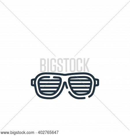 fun glasses icon isolated on white background. fun glasses icon thin line outline linear fun glasses