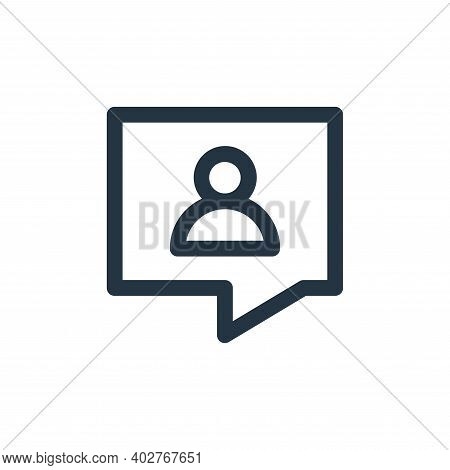 customer support icon isolated on white background. customer support icon thin line outline linear c
