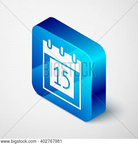 Isometric Happy Independence Day India Icon Isolated On Grey Background. Flyer Design For 15th Augus