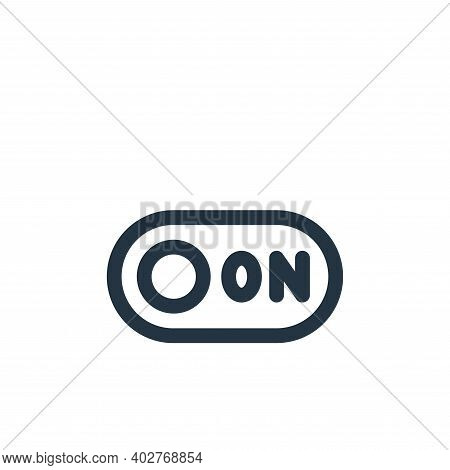 switch icon isolated on white background. switch icon thin line outline linear switch symbol for log
