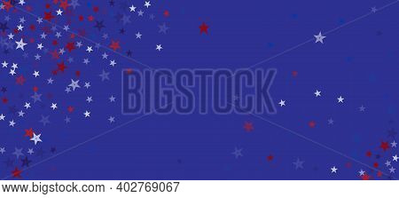National American Stars Vector Background. Usa Memorial 4th Of July Veterans Independence 11th Of No