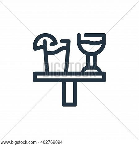 drink icon isolated on white background. drink icon thin line outline linear drink symbol for logo,