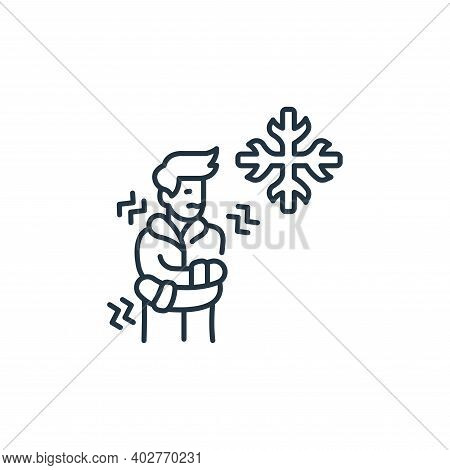 cold icon isolated on white background. cold icon thin line outline linear cold symbol for logo, web