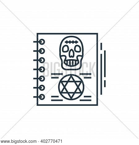 magic book icon isolated on white background. magic book icon thin line outline linear magic book sy