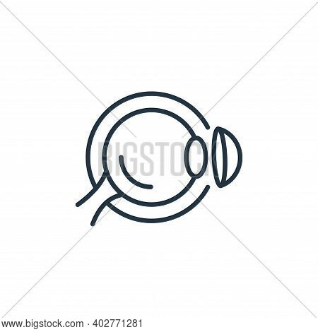contact lens icon isolated on white background. contact lens icon thin line outline linear contact l