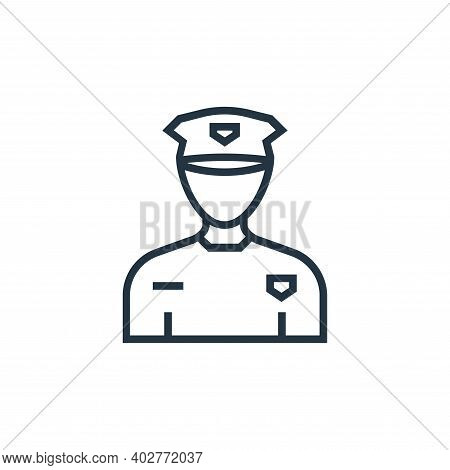 taxi driver icon isolated on white background. taxi driver icon thin line outline linear taxi driver