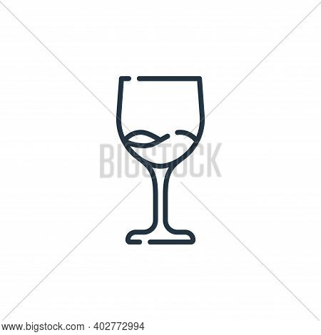 wine icon isolated on white background. wine icon thin line outline linear wine symbol for logo, web