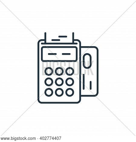 checkout icon isolated on white background. checkout icon thin line outline linear checkout symbol f