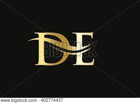 Elegant And Stylish De Logo Design For Your Company. De Letter Logo Design. De Logo For Luxury Brand