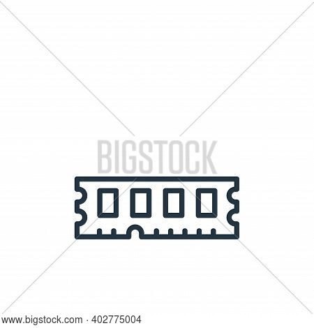 ram icon isolated on white background. ram icon thin line outline linear ram symbol for logo, web, a