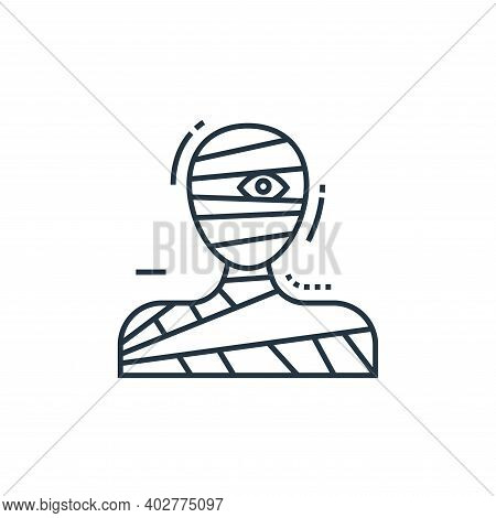 mummy icon isolated on white background. mummy icon thin line outline linear mummy symbol for logo,