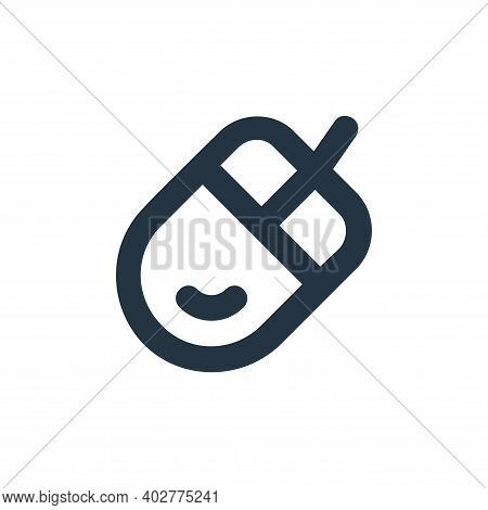 mouse icon isolated on white background. mouse icon thin line outline linear mouse symbol for logo,