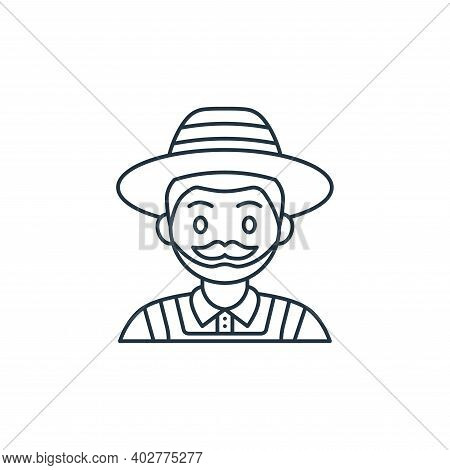 farmer icon isolated on white background. farmer icon thin line outline linear farmer symbol for log