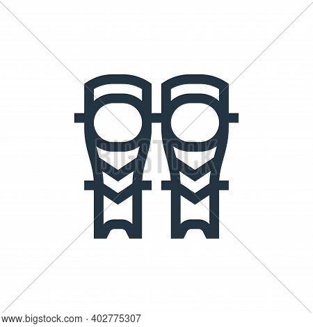 shin icon isolated on white background. shin icon thin line outline linear shin symbol for logo, web