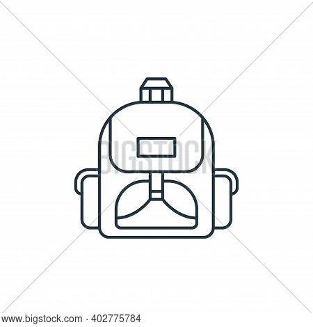school bag icon isolated on white background. school bag icon thin line outline linear school bag sy