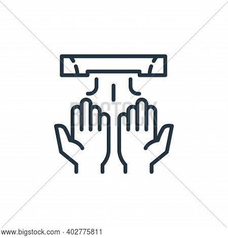 hand dryer icon isolated on white background. hand dryer icon thin line outline linear hand dryer sy