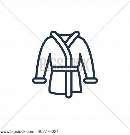 bathrobe icon isolated on white background. bathrobe icon thin line outline linear bathrobe symbol f