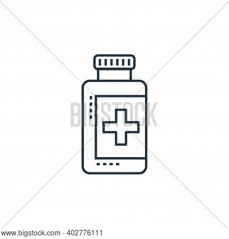 pill jar icon isolated on white background. pill jar icon thin line outline linear pill jar symbol f