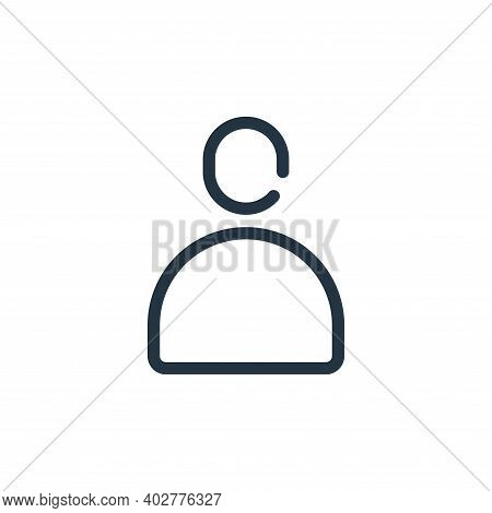 avatar icon isolated on white background. avatar icon thin line outline linear avatar symbol for log