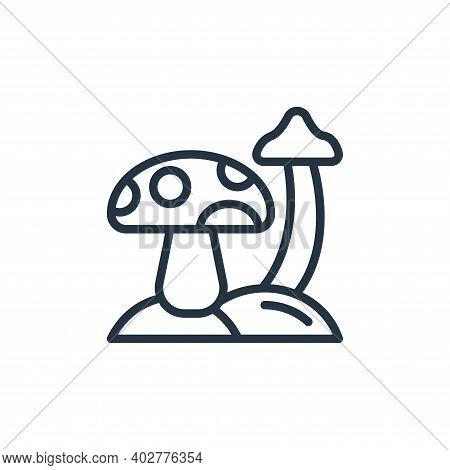 mushroom icon isolated on white background. mushroom icon thin line outline linear mushroom symbol f