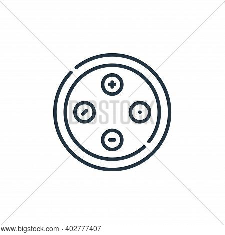 buttons icon isolated on white background. buttons icon thin line outline linear buttons symbol for