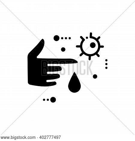 Infection Through Blood Glyph Icon. Disease Spreading Concept. Covid19, Virus Disease, Influenza Tra
