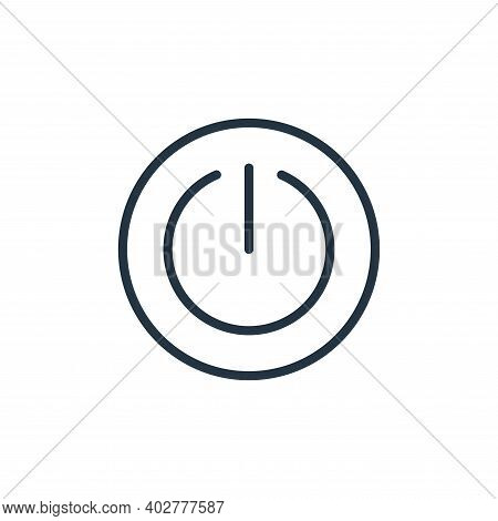power off icon isolated on white background. power off icon thin line outline linear power off symbo