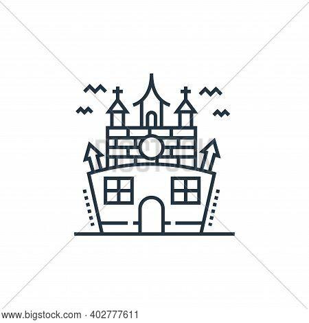 haunted house icon isolated on white background. haunted house icon thin line outline linear haunted