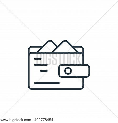 wallet icon isolated on white background. wallet icon thin line outline linear wallet symbol for log