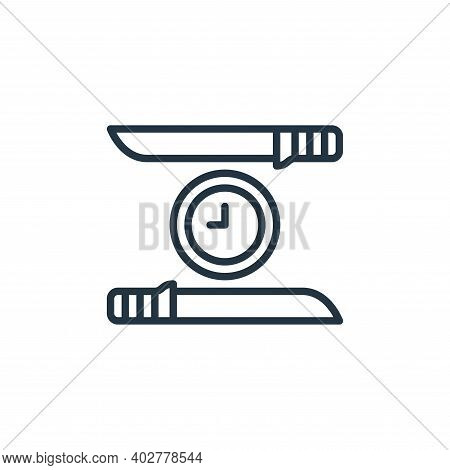 knifes icon isolated on white background. knifes icon thin line outline linear knifes symbol for log