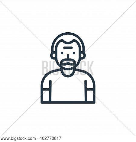 elder icon isolated on white background. elder icon thin line outline linear elder symbol for logo,