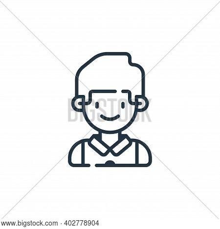 waiter icon isolated on white background. waiter icon thin line outline linear waiter symbol for log