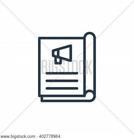 magazine icon isolated on white background. magazine icon thin line outline linear magazine symbol f