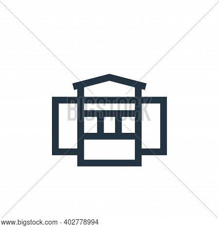 kiosk icon isolated on white background. kiosk icon thin line outline linear kiosk symbol for logo,