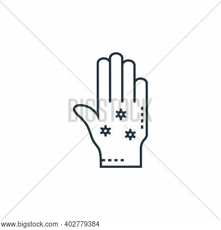 hand icon isolated on white background. hand icon thin line outline linear hand symbol for logo, web
